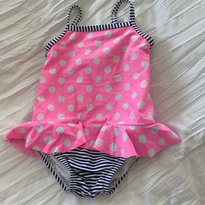 Pink Polka Dot Bathing Suit